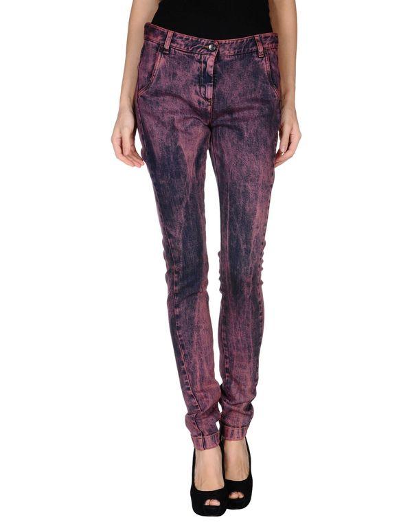 波尔多红 DOLCE & GABBANA 牛仔裤