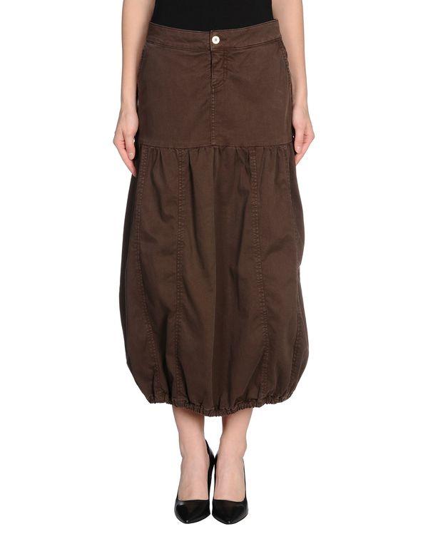 深棕色 MANILA GRACE 牛仔半裙