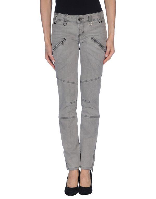 灰色 GALLIANO 牛仔裤