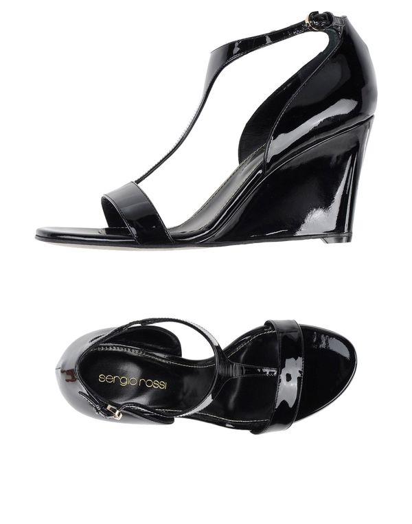 黑色 SERGIO ROSSI 凉鞋