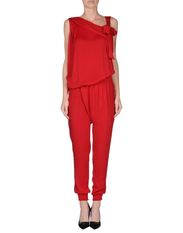 红色 TWIN-SET SIMONA BARBIERI 连身长裤