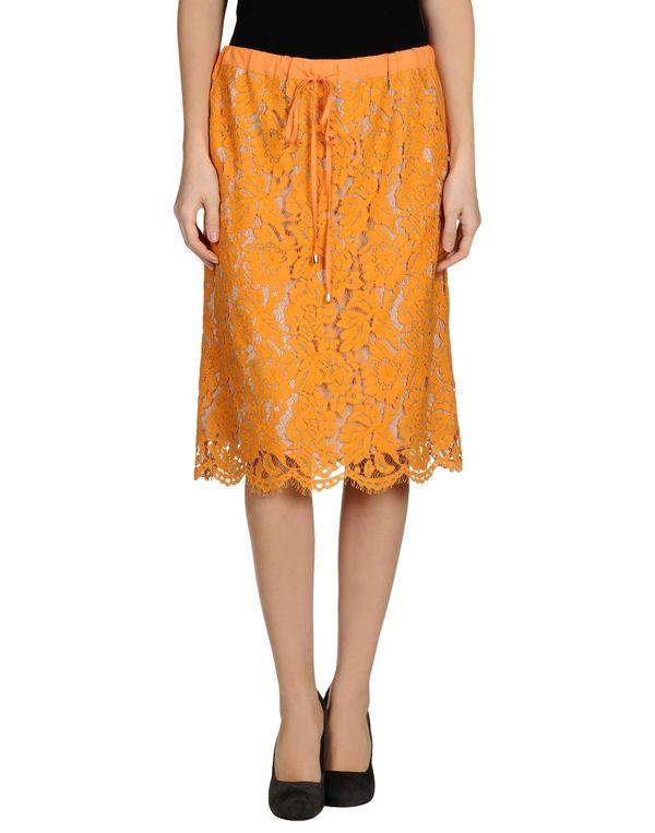 橙色 TWIN-SET SIMONA BARBIERI 半长裙