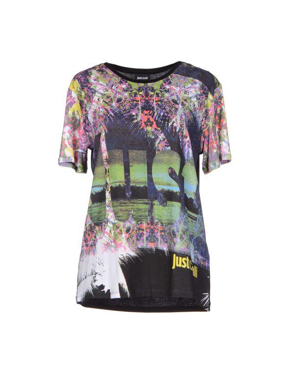 黑色 JUST CAVALLI T-shirt