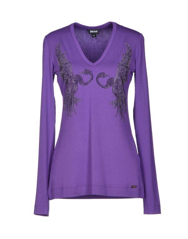紫色 JUST CAVALLI T-shirt