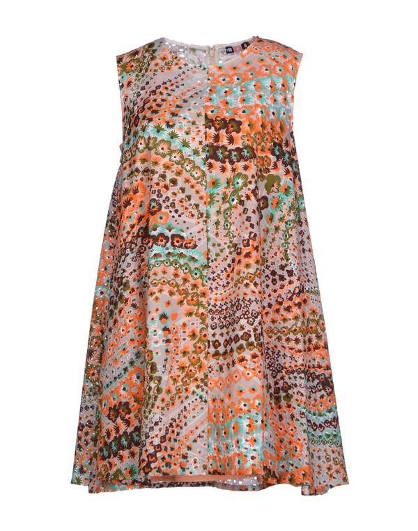 橙色 MSGM 短款连衣裙