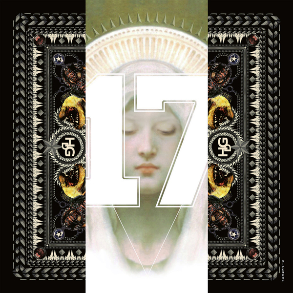 Givenchy纪梵希2013秋冬季系列黑色圣母17和罗特韦尔犬图案丝巾