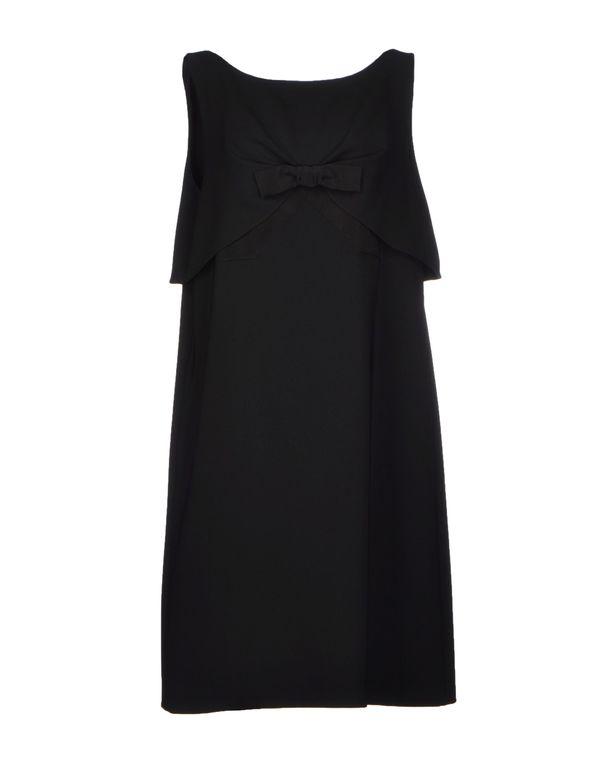 黑色 MOSCHINO 及膝连衣裙