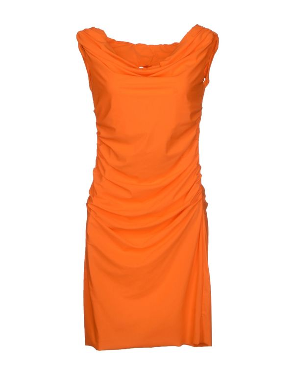 橙色 D.A. DANIELE ALESSANDRINI 短款连衣裙