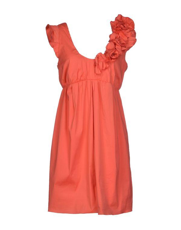 珊瑚红 PATRIZIA PEPE 短款连衣裙