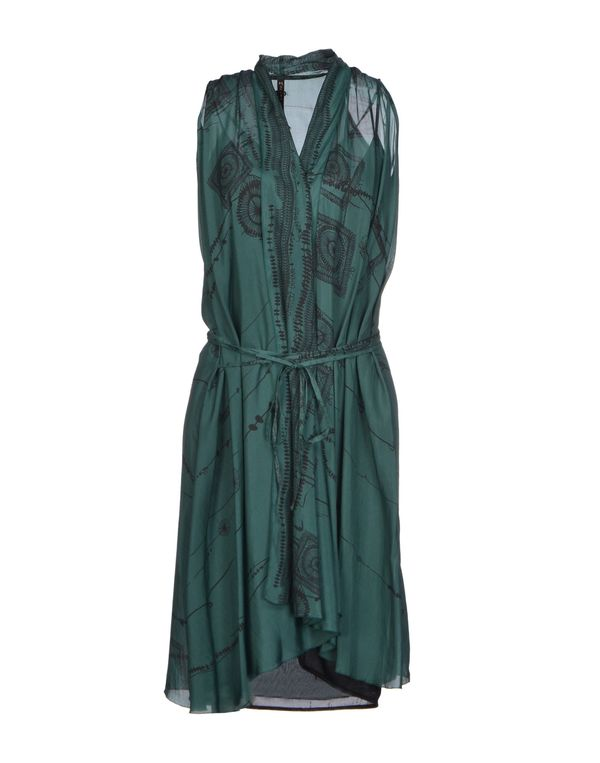 绿色 MANILA GRACE 及膝连衣裙