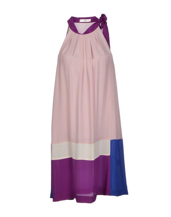 粉红色 SUOLI 短款连衣裙