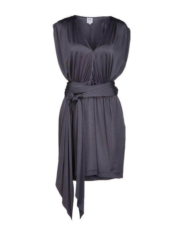 铅灰色 HALSTON HERITAGE 短款连衣裙