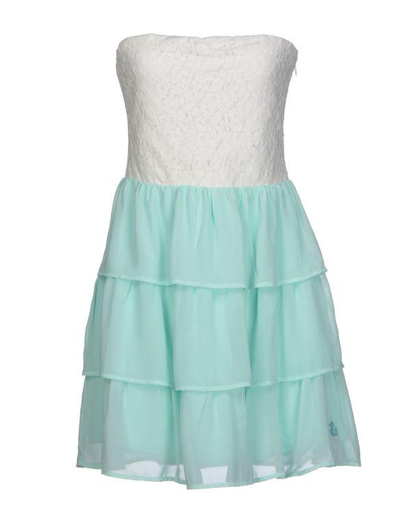 浅绿色 DUCK FARM 短款连衣裙