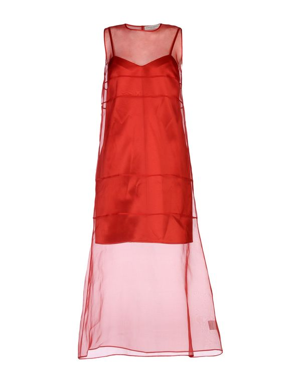 红色 BARBARA CASASOLA 长款连衣裙
