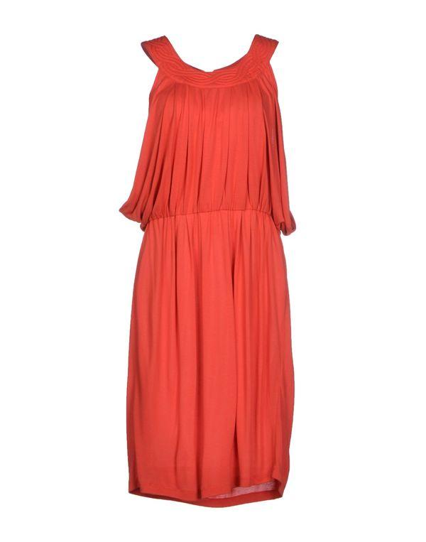 铁锈红 GUESS 及膝连衣裙