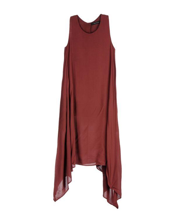 波尔多红 MANILA GRACE 及膝连衣裙