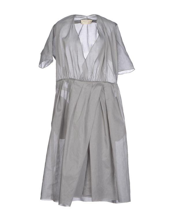 灰色 MARNI 及膝连衣裙