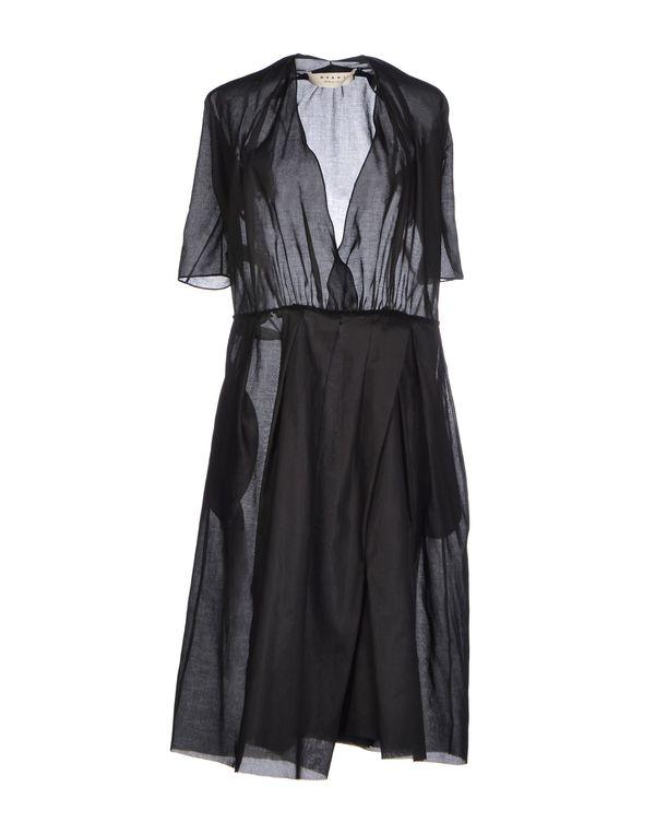 黑色 MARNI 及膝连衣裙