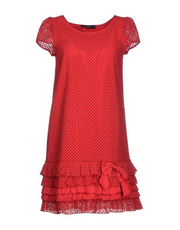 红色 TWIN-SET SIMONA BARBIERI 短款连衣裙