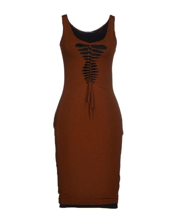 棕色 PLEIN SUD JEANIUS 短款连衣裙