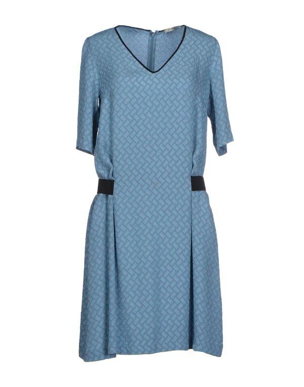 粉蓝色 PINKO GREY 短款连衣裙