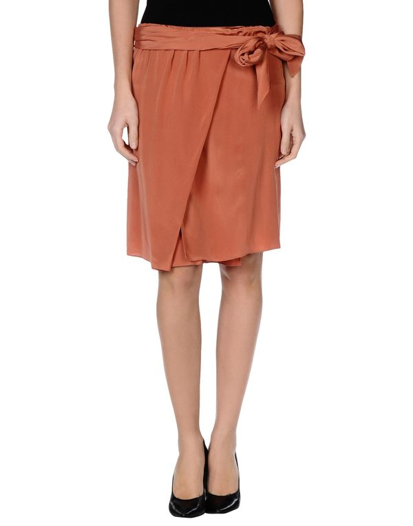 铁锈红 VANESSA BRUNO 及膝半裙