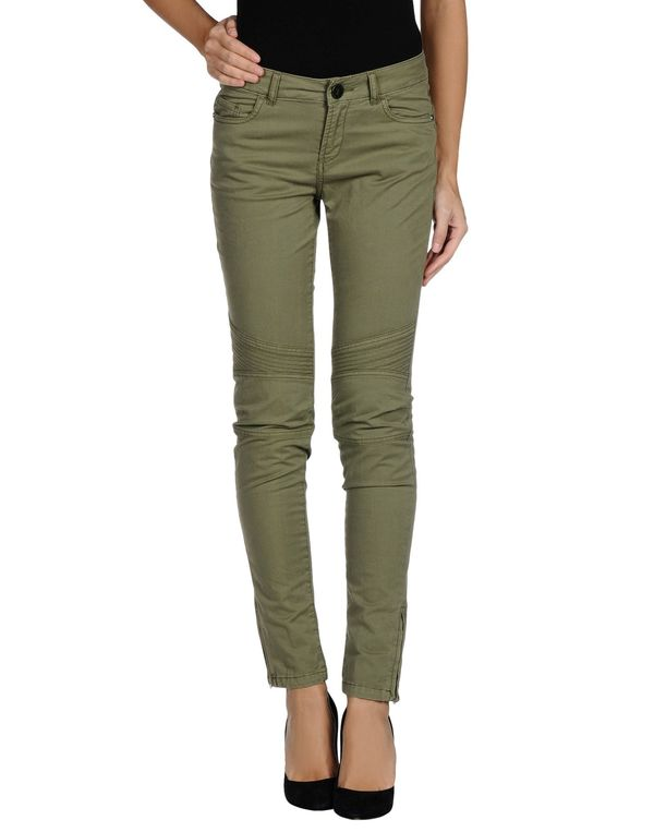 军绿色 TWIN-SET JEANS 裤装