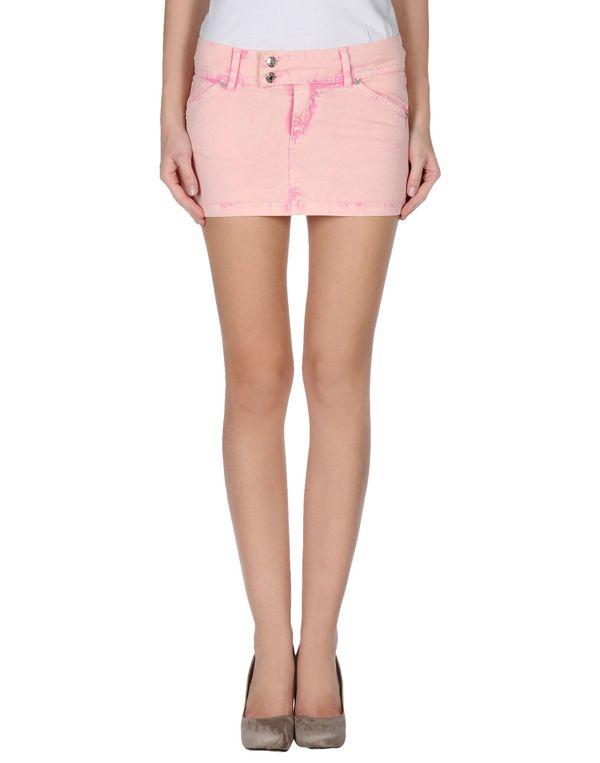粉红色 PHARD 牛仔半裙