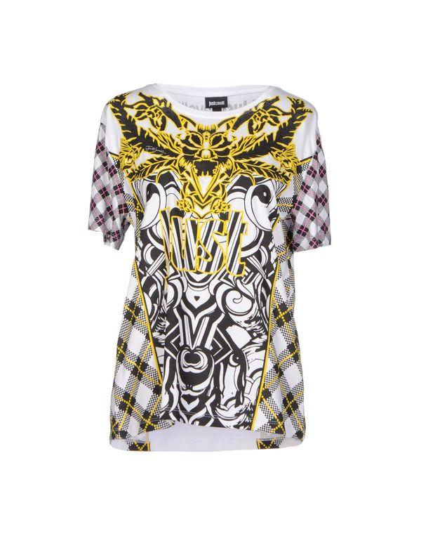 白色 JUST CAVALLI T-shirt