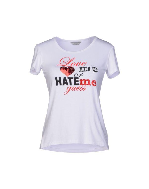 白色 GUESS T-shirt