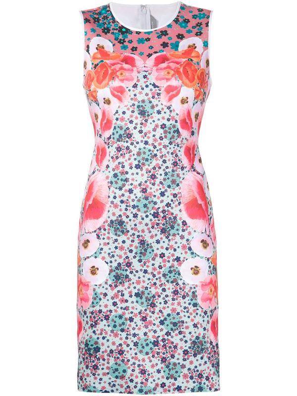 CLOVER CANYON printed stretch dress