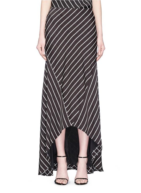 BIAIS条纹不对称半身裙