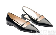 轻盈精致 Prada尖头芭蕾舞鞋