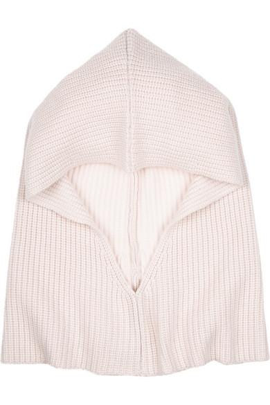 Iconic 罗纹羊绒兜帽