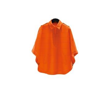 Moncler 橘红色尼龙斗篷