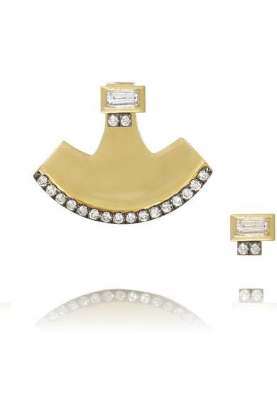18K 黄金钻石耳环