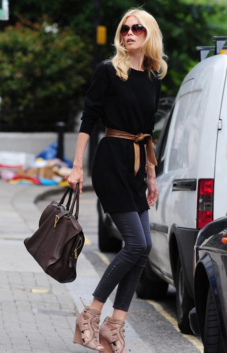 Claudia Schiffer 针织裙 裤装