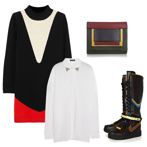 针织裙 长衬衫搭配妙法