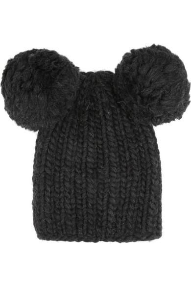 Mimi 绒球羊毛套头帽