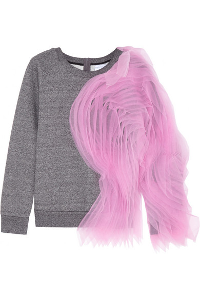 绢网和纯棉针织运动衫