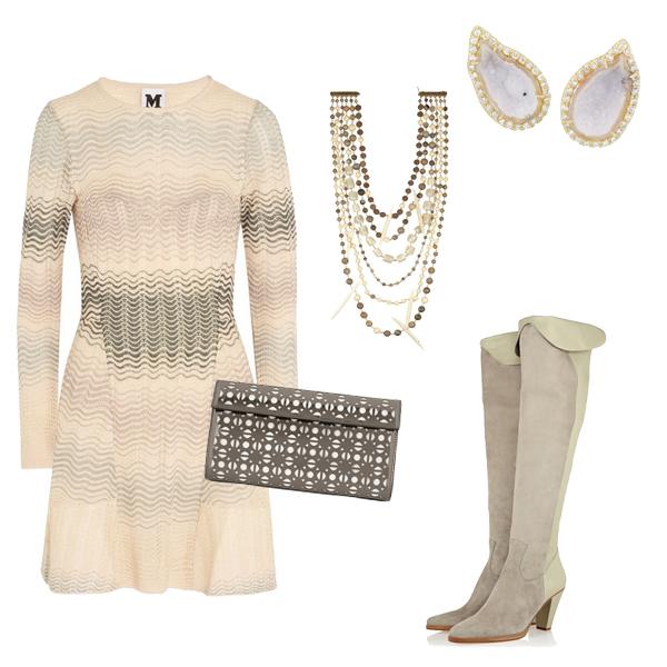 针织裙 长靴搭配妙法