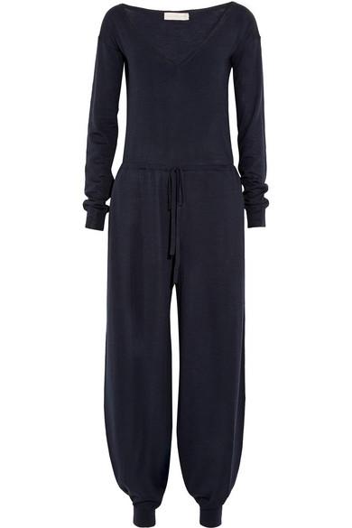 羊毛真丝混纺针织连身裤