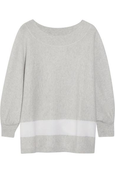 条纹羊绒毛衣