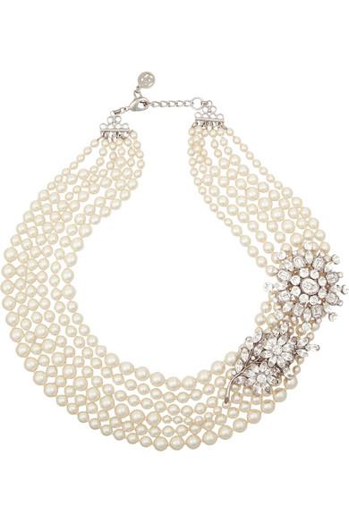 人造珍珠、施华洛世奇水晶项链