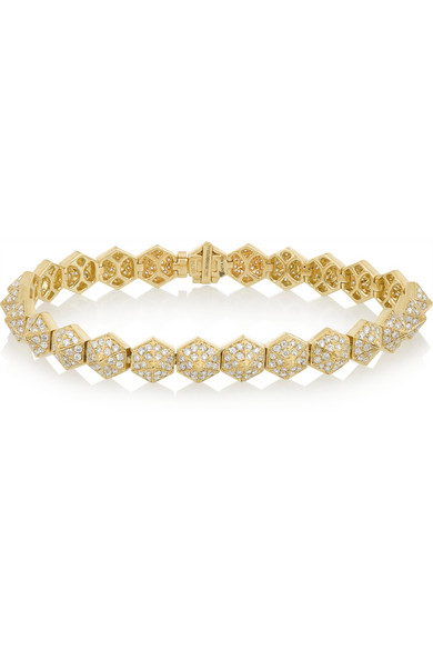 Spike 18K 黄金钻石手镯