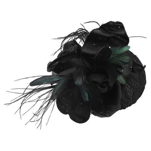 EVITA PERONI依慧达黑色花朵发饰