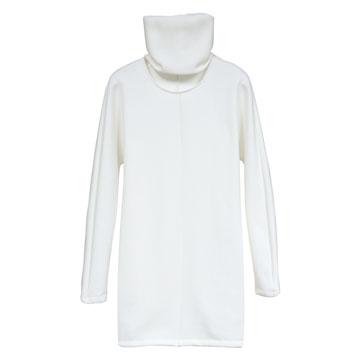 Ricostru2013秋 白色长款围脖领上衣