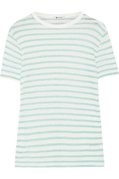 条纹竹节针织 T 恤