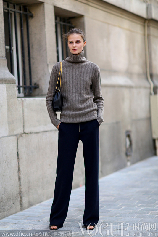 怎么穿都不错的高领毛衣 时髦入门必备