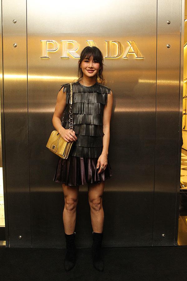 众星出席10月28日于Prada上海环贸IAPM店举行的冬日系列发布酒会